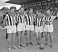 Jubileumwedstrijd op Willem II terrein Tilburg, v.l.n.r Kuys, Wilkes, Van der Ha, Bestanddeelnr 919-4508.jpg