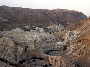 Judaean Mountains - The Judean Hills viewed from the Dead Sea