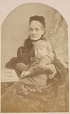Julia Stephen with her son Adrian in 1886