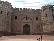 July 9 2005 - The Lahore Fort-A gate from the backside