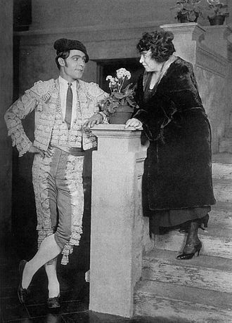June Mathis - Screenwriter June Mathis on the set of Blood and Sand with star and lifelong friend Rudolph Valentino