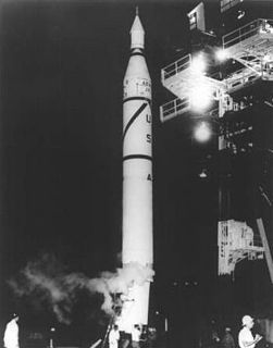 Jupiter-C U.S. research and development vehicle developed from the Jupiter-A, member of the Redstone rocket family; used for three sub-orbital spaceflights in 1956 and 1957 to test re-entry nosecones