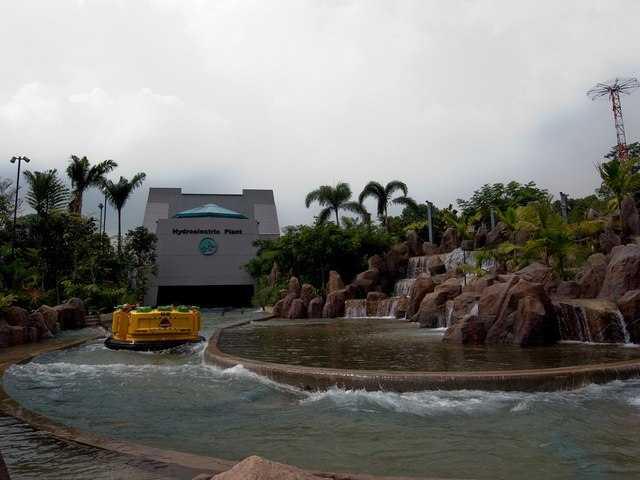 Jurassic Park Rapids Adventure ending - Universal Studios Singapore