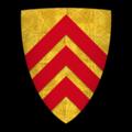 "K-076-Coat of Arms-CLARE-Joan, widow of the Earl of Gloucester (""La contesse de Gloucestre"").png"