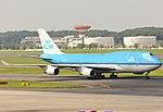 KLM Boeing 747-400 PH-BFD at Narita International Airport 2014.jpg