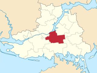 Kakhovka Raion Subdivision of Kherson Oblast, Ukraine