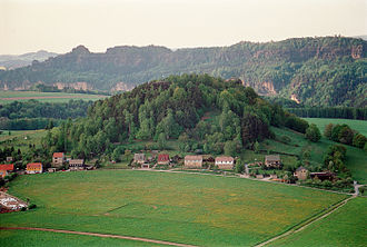 Kaiserkrone (hill) - View of the Kaiserkrone from the Zirkelstein
