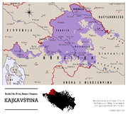 Location map of Kajkavian