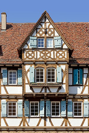 Bay window at the southeast side of the Kameralamt, Maulbronn Monastery