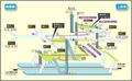 Kamimaezu station map Nagoya subway's Tsurumai line 2014.png