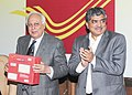 Kapil Sibal launching the domestic flat rate boxes for parcel and announce the holding of International Philately Exhibition.jpg