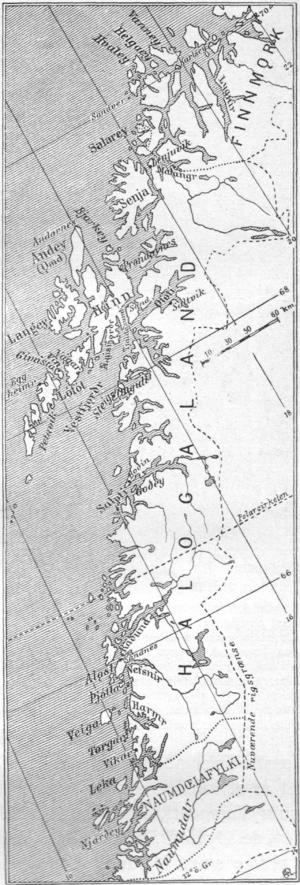 Districts of Norway - Northern Norway's districts induring the middle ages.