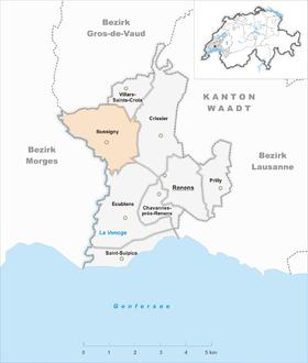 Karte von Bussigny