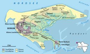 Borkum - Island map