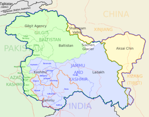 Map Of India And Pakistan Border.Siachen Conflict Wikipedia