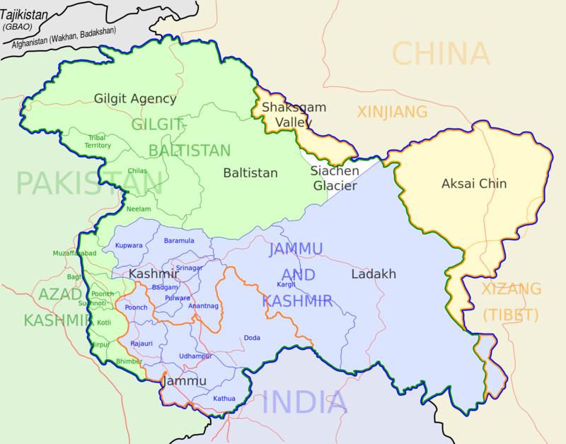 Kashmir Jammu Map.png
