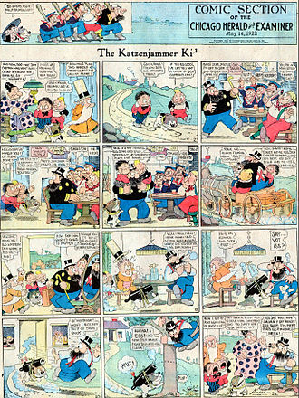 The Katzenjammer Kids - A Sunday comic strip from May 14, 1922