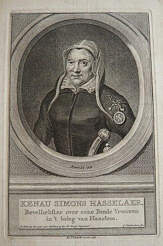 Kenau Simonsdochter Hasselaer - Image: Kenau simons hasselaer jacob houbraken 1760