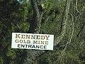 Kennedy Mine--Gold Mine's entrance sign.jpg
