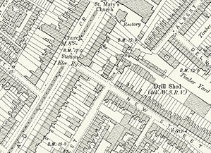 Kennington tube station - Image: Kennington Underground station map, 1893