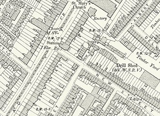 Kennington tube station - Kennington station on an 1890s Ordnance Survey map