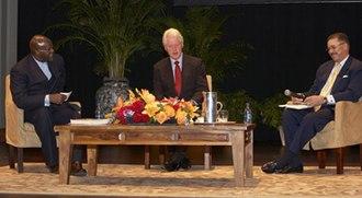 Tukufu Zuberi - The Kerner Plus 40 Symposium, 2008. From left: Tukufu Zuberi, former U.S. President Bill Clinton, and DeWayne Wickham