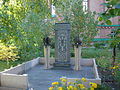Khachkar in the court of Annunciation Orthodox Cathedral, Pavlodar. Main view at the composition.jpg