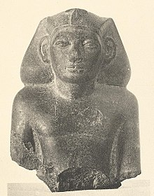 Upper part of a statue of Khendjer from his pyramid complex. Cairo Egyptian Museum, JE 53368