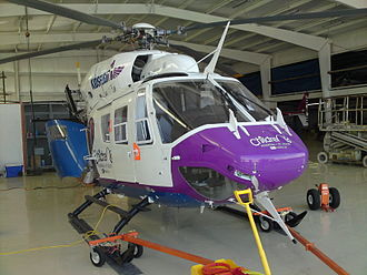 St. Louis Children's Hospital - Kidsflight 1 is a MBB/Kawasaki BK 117 helicopter operated by the SLCH transport team