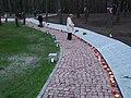 Kijów-Bykownia, alejka z tabliczkami epitafijnymi 3435 oficerów i obywateli polskich - path with epitaphs plates 3435 Polish officer and citizen - panoramio.jpg