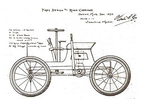 Charles Brady King - Charles B. King 1893 first car design