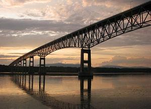 Kingston–Rhinecliff Bridge - Bridge seen from Eastern shore of the Hudson River