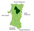 Kitaakita in Akita Prefecture.png