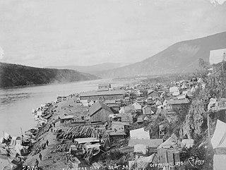 Klondike City Settlement near Dawson City, Yukon, Canada