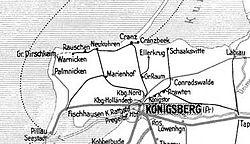 Railways around Königsberg in 1938