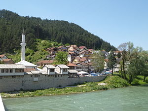 Konjic - the Neretva river at Konjic