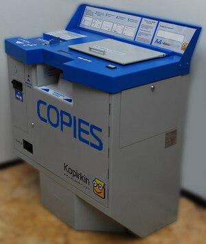 """Kopirkin"" vending photocopier"