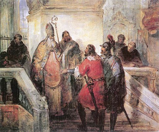 Kovács The Venetians Asking the Deliverance of St Mark's Corpse c. 1846