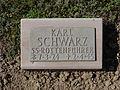 Kriegsopferfriedhof Kloster Arnsburg Grabstein Karl Schwarz, SS-Rottenführer.JPG