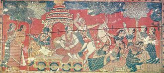 Birbhum district - Krishna travelling to Mathura in a 17th-century painting from Birbhum