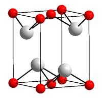 Kristallstruktur Blei(II)-oxid