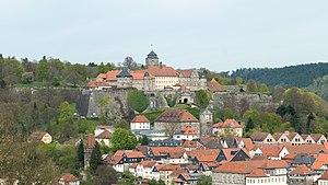 Die Festung Rosenberg über der Kronacher Altstadt