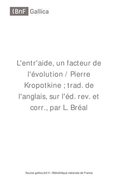 File:Kropotkine - L Entraide un facteur de l evolution, traduction Breal, Hachette 1906.djvu