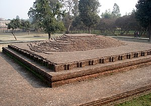 Barlaam and Josaphat - The plinth in Kushinara where Buddha's body was laid between the sala trees for one week before cremation
