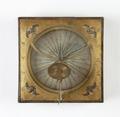 Kvadratiskt bordssolur från 1648 gjord i mässing - Skoklosters slott - 92899.tif