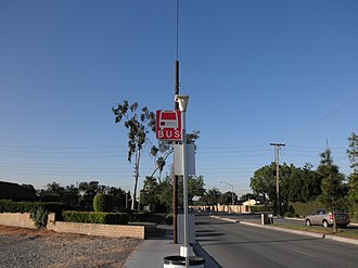 Long Beach Transit - A LBT bus stop