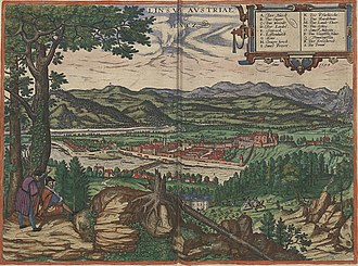 Linz - A depiction of the town in 1594
