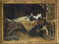 La Mort de Sainte-Germaine ( Comte Raoul. de Pibrac ) 1910 (Salon de Paris).jpg