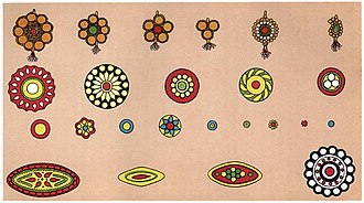 Bindi (decoration) - Ornamental bindis were made and sold by lac workers known as Lakhera.