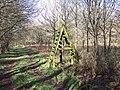 Ladder stile over thin air in Grovely Woods - geograph.org.uk - 350591.jpg